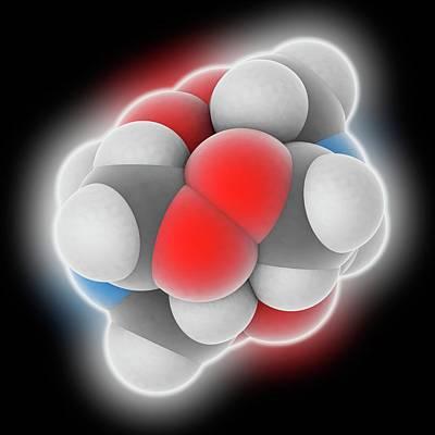 Terrorism Photograph - Hmtd Explosive Molecule by Laguna Design