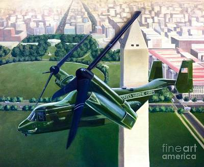 Osprey Painting - Hmx-1 Mv-22 by Stephen Roberson