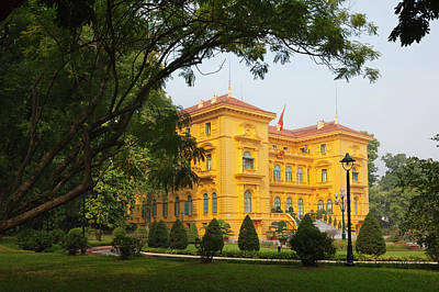 Hanoi Photograph - Ho Chi Minh's Presidential Palace by Keren Su