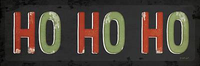 Ho Ho Ho Christmas Art Print by Jennifer Pugh