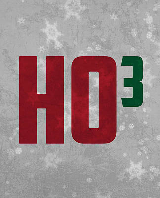 Ho Ho Ho Have A Very Nerdy Christmas Print by Design Turnpike