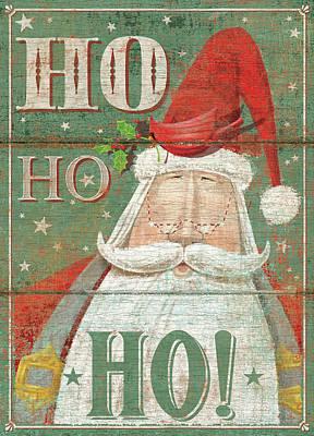 Ho Ho Ho Art Print by P.s. Art Studios