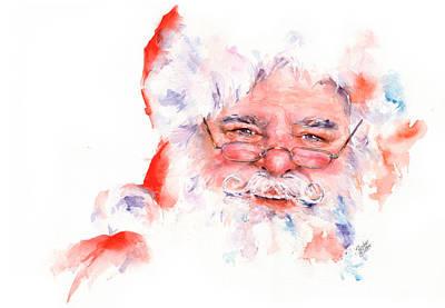 Painting - Ho Ho Ho.....  Santa  by Stephie Butler