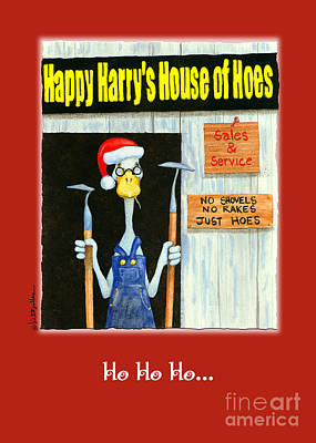 Christmas Cards Painting - Ho Ho Ho  by Will Bullas