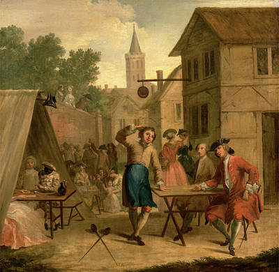 Beer Oil Painting - Hob Selling Beer At The Wake, John Laguerre by Litz Collection