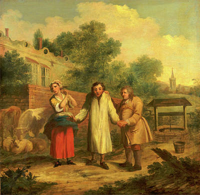 Hob Taken Out Of Ye Well, John Laguerre, 1688-1746 Art Print by Litz Collection
