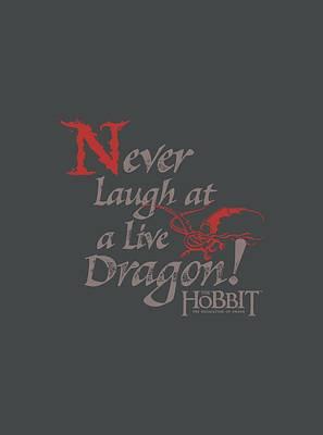 The Hobbit Wall Art - Digital Art - Hobbit - Never Laugh by Brand A