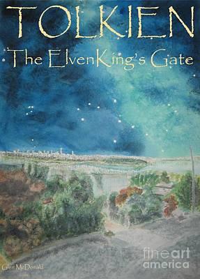 Bilbo Painting - hobbit Tolkien FAA Tolkien Poster 1 Tolkien ElvenKing's Gate by Glen McDonald