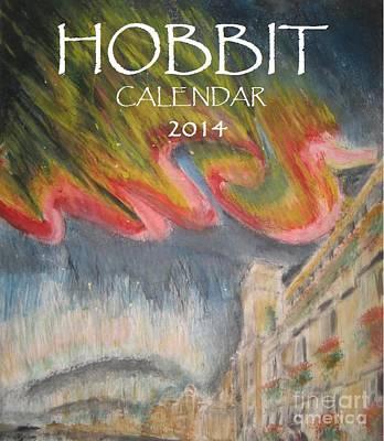 Bilbo Painting - Hobbit Tolkien Persistence Of Imagination Calendar Cover by Glen McDonald