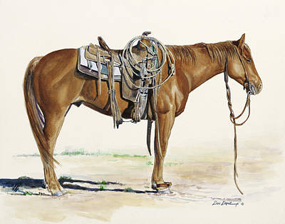 Roper Painting - Hobbled by Don Dane