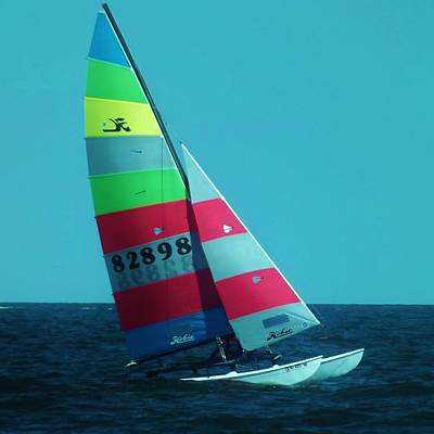 Photograph - Hobie Cat by John Wartman