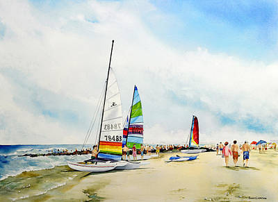 Hobie Cat Sunday Art Print