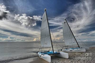 Photograph - Hobie Cats On The Caribbean by Adam Jewell