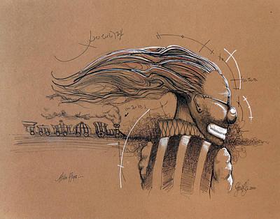 Hip Drawing - Hobo Hope by Steve Fogle