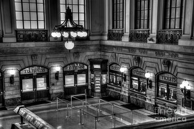 Hoboken Terminal Waiting Room Art Print