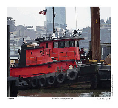Art Print featuring the photograph Hoboken Tug Boat  by Kenneth De Tore