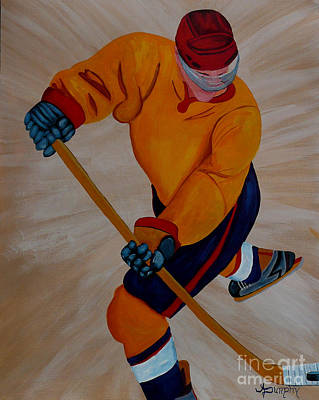 Painting - Hockey by Anthony Dunphy
