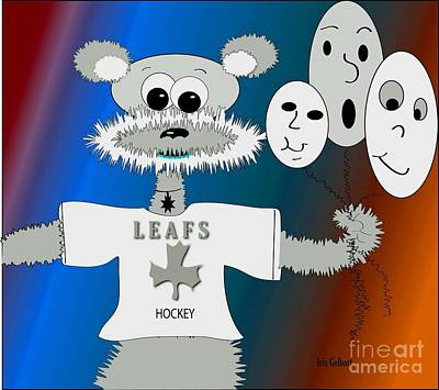 Toronto Maple Leafs Digital Art - Hockey Anyone by Iris Gelbart