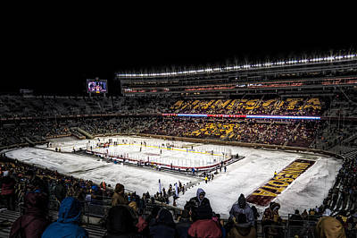 University Of Minnesota Photograph - Hockey City Classic by Tom Gort
