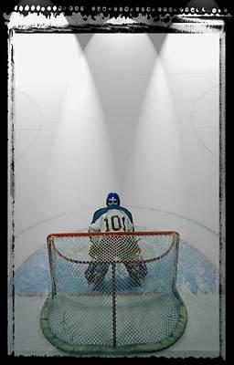 Hockey Goalie In Crease Print by Don Hammond