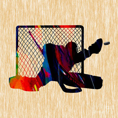 Mixed Media - Hockey Goalie by Marvin Blaine