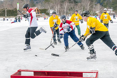 Pond Hockey Photograph - Hockey In Vermont by Jim Block