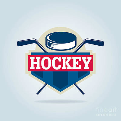 University Digital Art - Hockey Logo,sport by Vextor Studio
