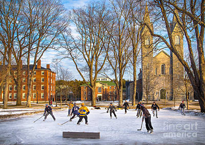 Maine Photograph - Hockey On The Quad by Benjamin Williamson