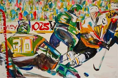 Hockey Painting - Hockey by Troy Thomas