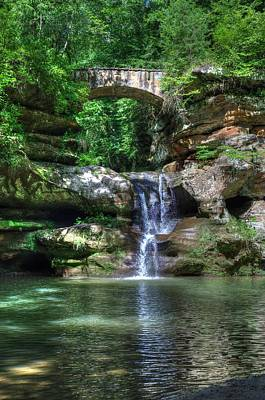 Photograph - Hocking Hills Falls by Mark Bowmer