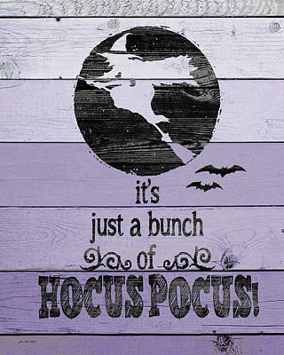 Halloween Sign Painting - Hocus Pocus by Jo Moulton
