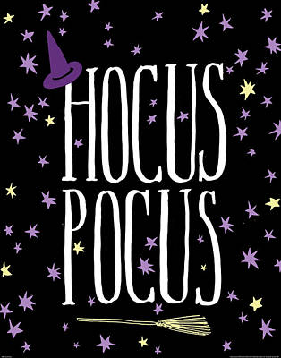 Halloween Night Painting - Hocus Pocus by Wild Apple Portfolio