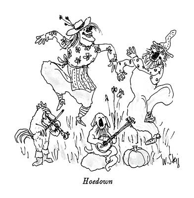 Rooster Drawing - Hoedown by William Steig