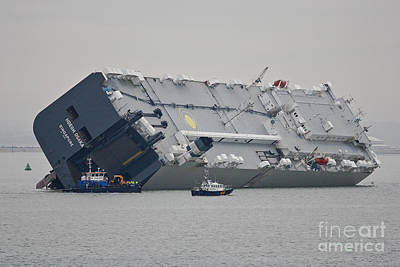 Photograph - Hoegh Osaka Rescue by Terri Waters