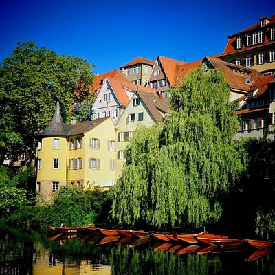 House Photograph - Hoelderlin Tower In Lovely Tuebingen Germany by Matthias Hauser