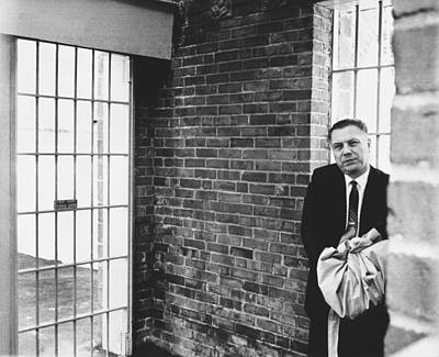 Contemplative Photograph - Hoffa Enters Federal Prison by Underwood Archives