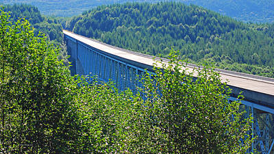 Photograph - Hoffstadt Creek Bridge To Mount St. Helens by Connie Fox