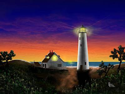 Digital Art - Hog Island Sunrise by Patrick Belote