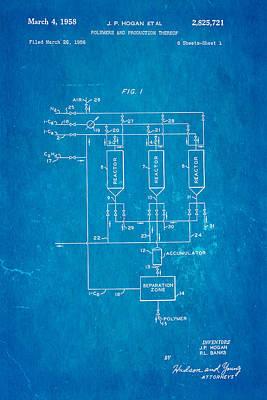 Hogan Photograph - Hogan Polypropylene Patent Art 1958 Blueprint by Ian Monk