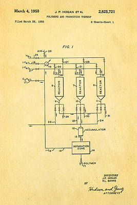 Hogan Photograph - Hogan Polypropylene Patent Art 1958 by Ian Monk