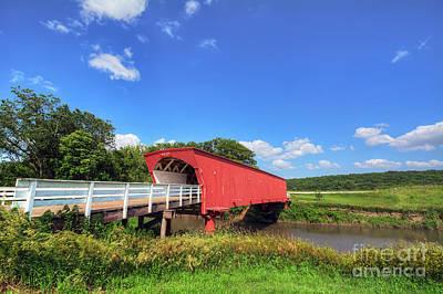 Hogback Photograph - Hogback Covered Bridge by Eddie Yerkish