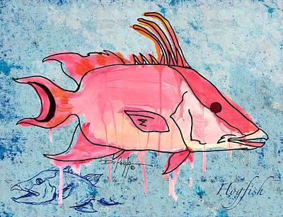 Hawaiian Fish Painting - Hogfish by William Depaula
