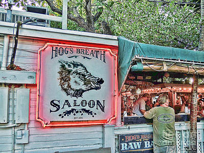 Photograph - Hog's Breath Saloon by Joan  Minchak