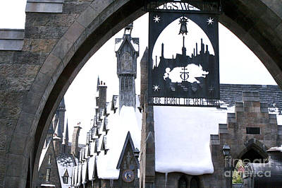 Hogsmeade Sign Art Print