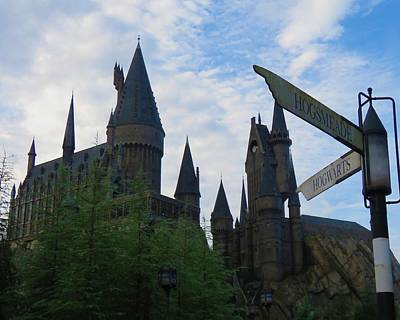 Photograph - Hogwarts Castle With Signs by Kathy Long