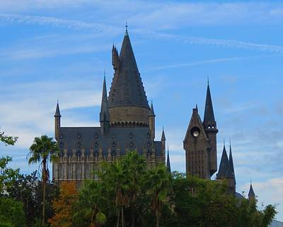 Photograph - Hogwarts Castle With Towers by Kathy Long