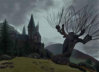 Hogwarts Digital Art - Hogwarts II by Saskia Ahlbrecht