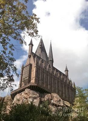 Hogwarts On High Art Print