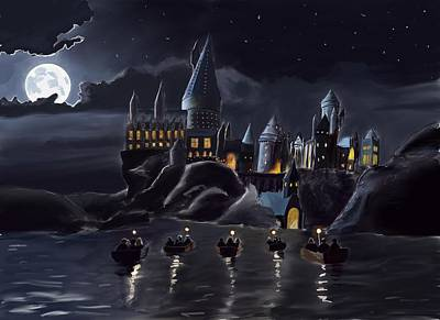 Hogwarts Digital Art - Hogwarts by Saskia Ahlbrecht