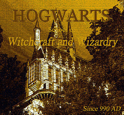 Painting - Hogwarts Since 990 Ad by David Lee Thompson
